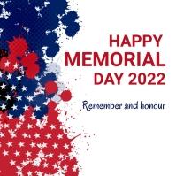 Memorial day,event,president day Instagram-bericht template