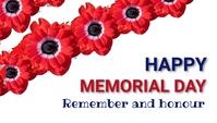 Memorial day,event En-tête de blog template