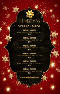 Christmas,new year,event,sale,menu Flyer (US Letter) template