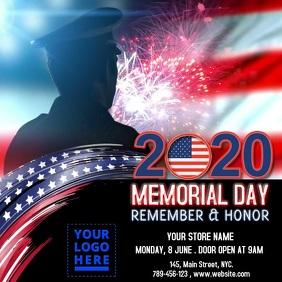 Memorial Day 2020 Pos Instagram template