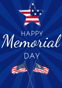 Memorial day 2021 flyers A3 template