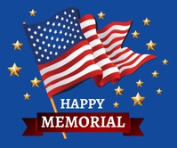 Memorial Day Background Template Malaking Rektangle