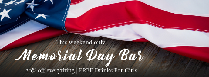 Memorial Day Bar Promo Facebook Cover Template Postermywall