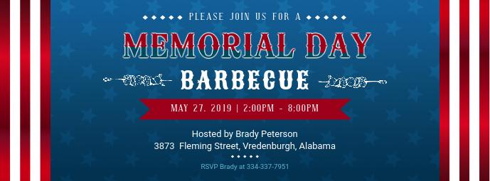 Memorial Day Barbecue Invitation Banner