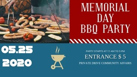 Memorial day BBQ Facebook Cover video Template