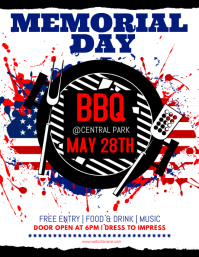 6 130 customizable design templates for memorial day bbq postermywall