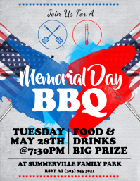 Memorial Day BBQ Flyer Folder (US Letter) template