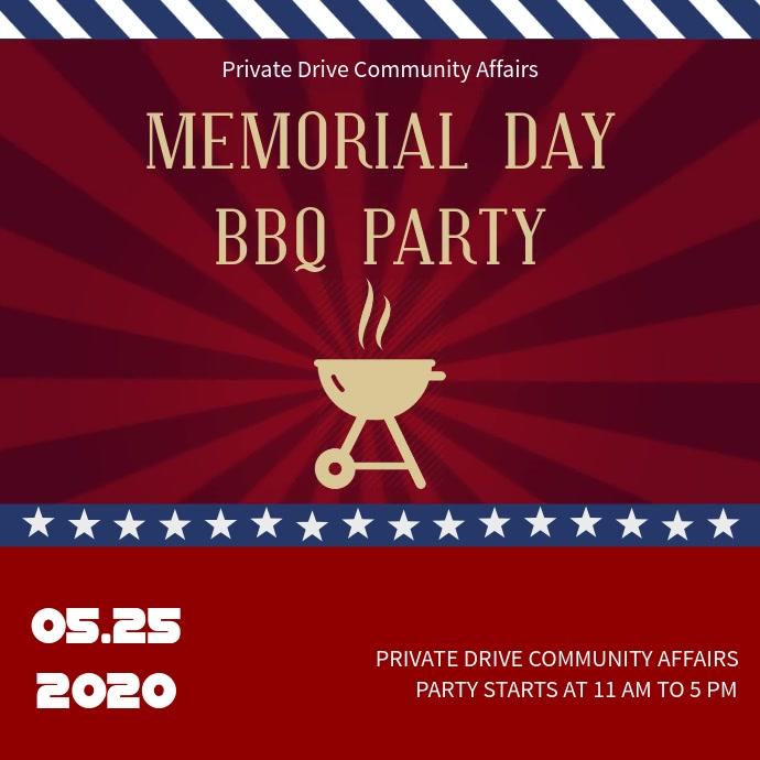 Memorial Day BBQ Instagram Video Template
