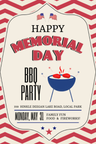 memorial day bbq party Plakat template