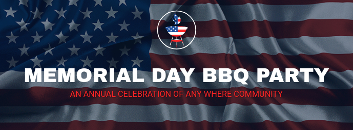Memorial Day Bbq Party Facebook Cover Template Postermywall