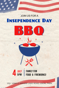 Independence Day BBQ poster Cartaz template