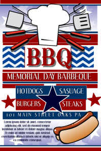 customizable design templates for memorial day bbq postermywall