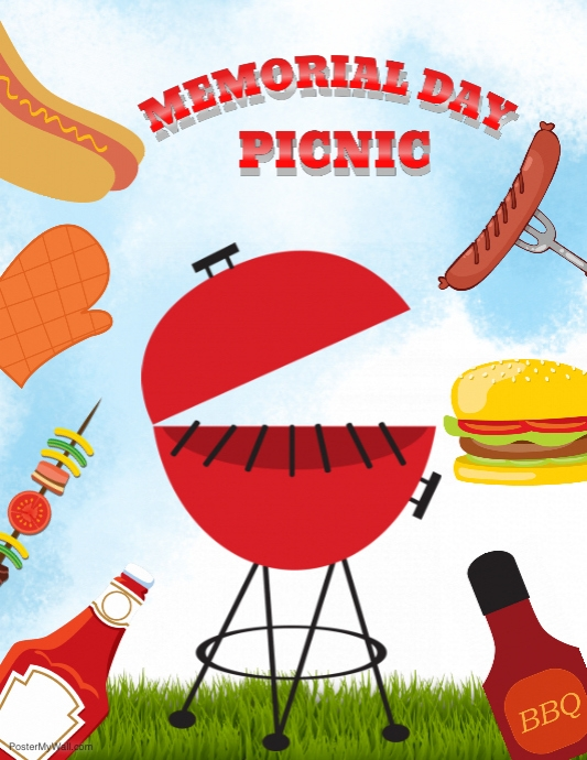 Memorial Day Bbq Flyer Template Postermywall