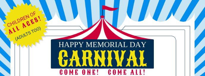 Memorial Day Carnival Facebook Cover Template