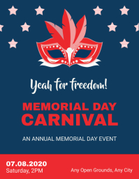 Memorial Day Carnival Flyer Template