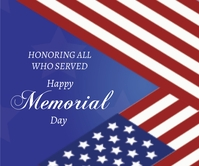 Memorial Day Celebration Large Rectangle template
