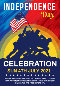 Memorial day celebration A4 template