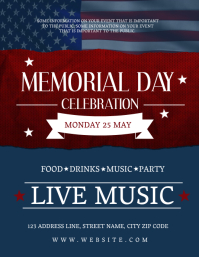 Memorial Day Celebration Event Flyer Template