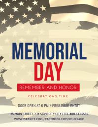 Memorial Day Celebration flyer