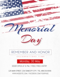 Memorial Day Celebration flyer 传单(美国信函) template