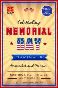 Memorial Day celebration vintage poster