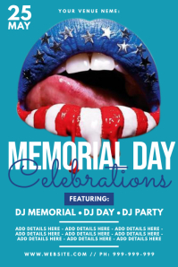 Memorial Day Celebrations Poster template