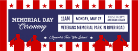 Memorial Day Ceremony Facebook Cover Photo Facebook-coverfoto template