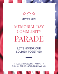 Memorial Day Community Parade Flyer Template