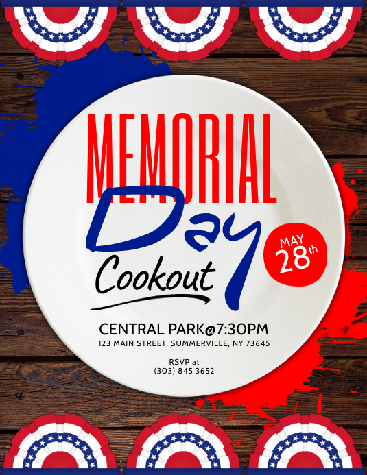 memorial day cookout flyer