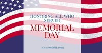 Memorial Day Imagen Compartida en Facebook template