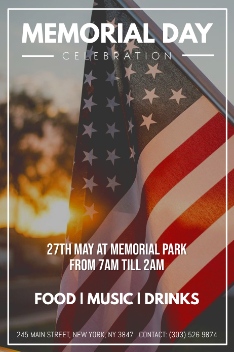 Memorial Day Iphosta template