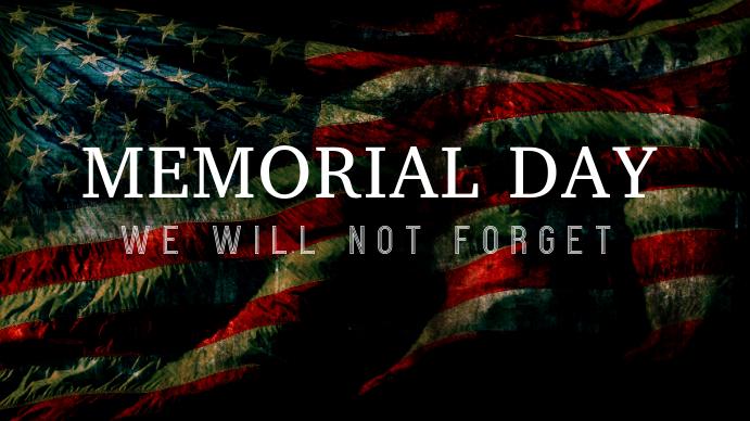 Memorial Day Digitalt display (16:9) template