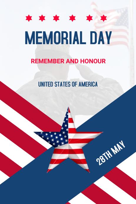 Memorial day Poster template