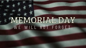 Memorial Day Digital Display (16:9) template