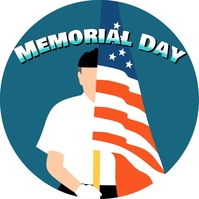 memorial day Album Cover template
