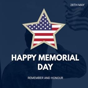 Memorial day Publicação no Instagram template