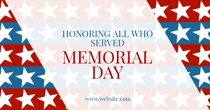 Memorial Day Facebook Shared Image template