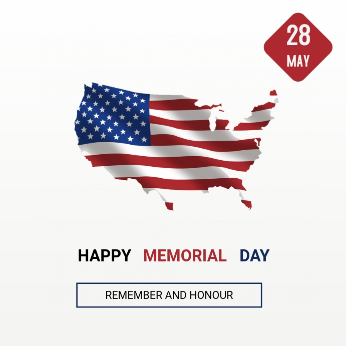 Memorial day Pos Instagram template