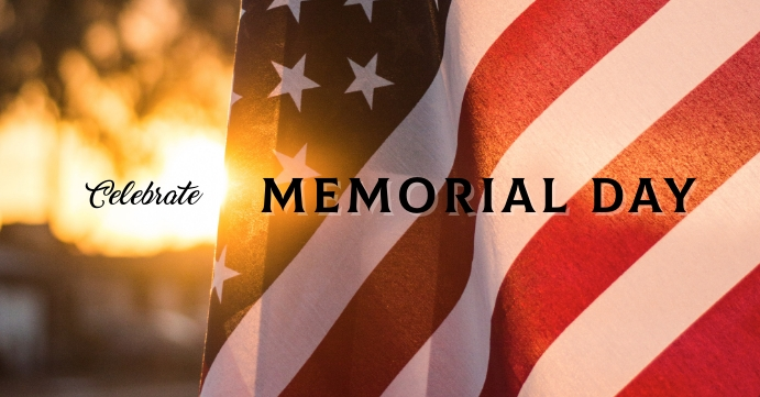 * MEMORIAL DAY Facebook Event Cover template