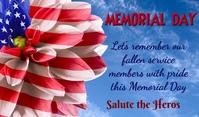 Memorial Day Etiqueta template