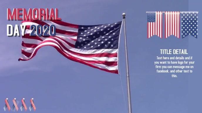 memorial day Pantalla Digital (16:9) template