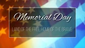 memorial day Digital na Display (16:9) template