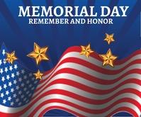 Memorial Day Medium Rectangle template