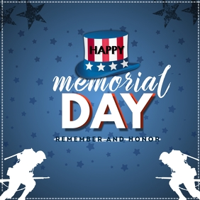 Memorial Day Message Instagram template