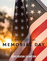 * MEMORIAL DAY Flyer (US Letter) template