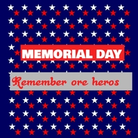 memorial day Sampul Album template