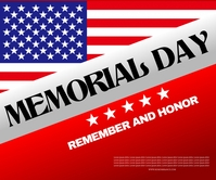 Memorial Day Large Rectangle template