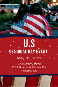 Memorial Day Event Grafik Tumblr template