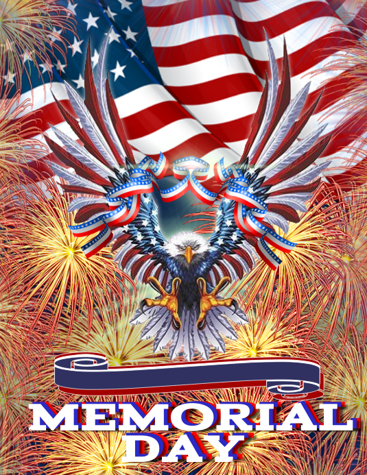 memorial day event flyer template postermywall