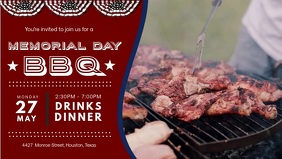 Memorial Day Facebook Banner BBQ Invitation